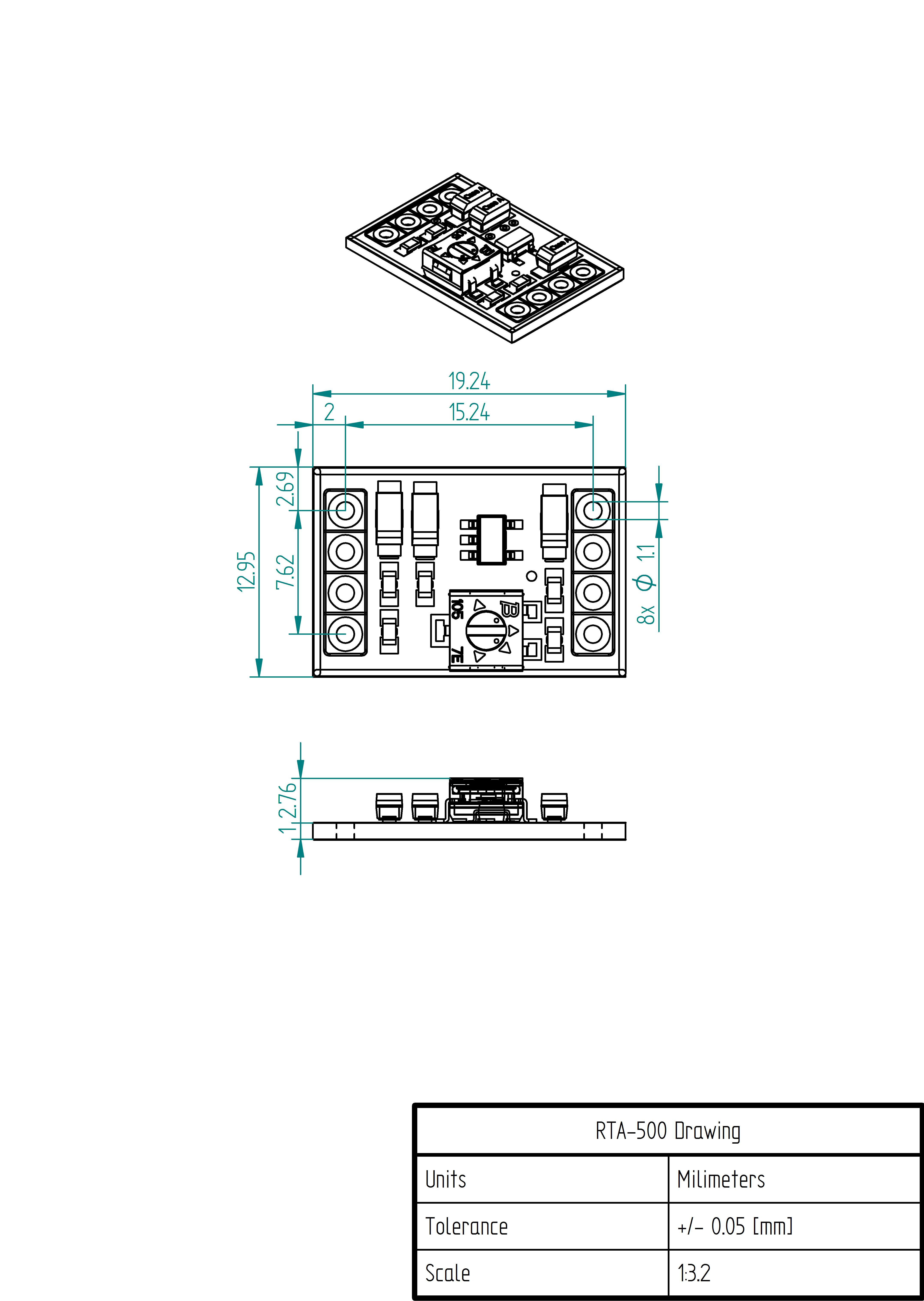 RTA-500 Mechanical Drawing